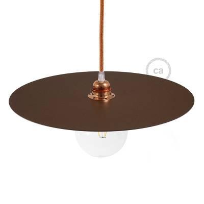 "Oversize Suspension Dish Ellepi in Corten painted iron, diameter 15.7"", Made in Italy"