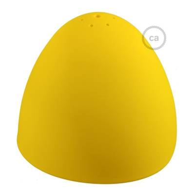 "Silicone Lampshade color yellow supplied with diffuser and strain relief. Diameter cm 9-13/16""."