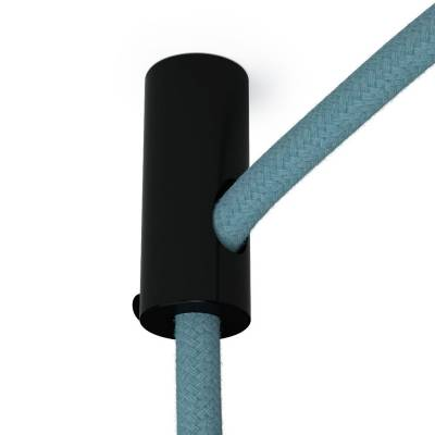 Swag Hook, Black ceiling hook and stop for fabric cable