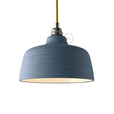 Materia Ceramic Cup lampshade, streaked Avion with polished interior white, Made in Italy