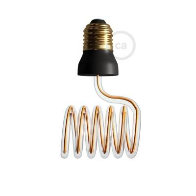 The Curling Iron Bulb - LED Art Loop Cross Light Bulb