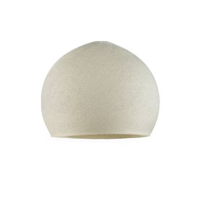 Ivory Dome Fabric Lampshade - Dome lamp shade for Pendant Lights, Hanging Lights & Chandelier - 100% Handmade