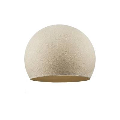 Beige Dome Fabric Lampshade - Dome lamp shade for Pendant Lights, Hanging Lights & Chandelier - 100% Handmade