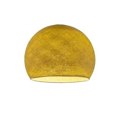 Mustard Yellow Dome Fabric Lampshade - Dome lamp shade for Pendant Lights, Hanging Lights & Chandelier - 100% Handmade