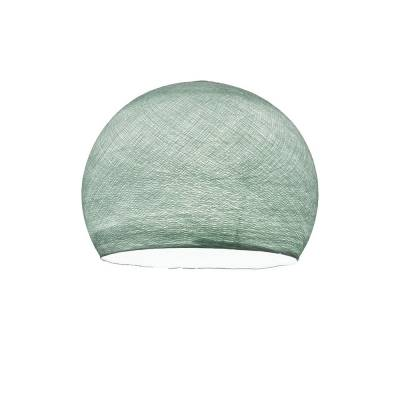 Light Blue Dome Fabric Lampshade - Dome lamp shade for Pendant Lights, Hanging Lights & Chandelier - 100% Handmade