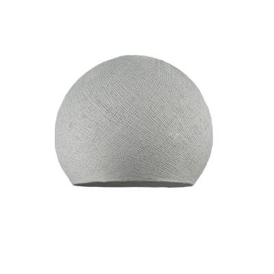 Pearl Grey Dome Fabric Lampshade - Dome lamp shade for Pendant Lights, Hanging Lights & Chandelier - 100% Handmade