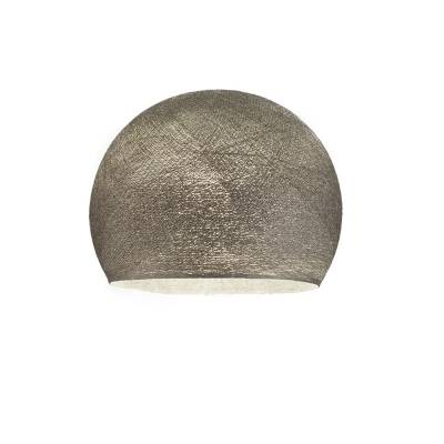 Graphite Dome Fabric Lampshade - Dome lamp shade for Pendant Lights, Hanging Lights & Chandelier - 100% Handmade