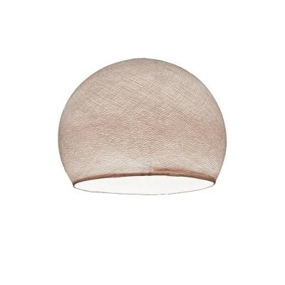 Pale Pink Dome Fabric Lampshade - Dome lamp shade for Pendant Lights, Hanging Lights & Chandelier - 100% Handmade