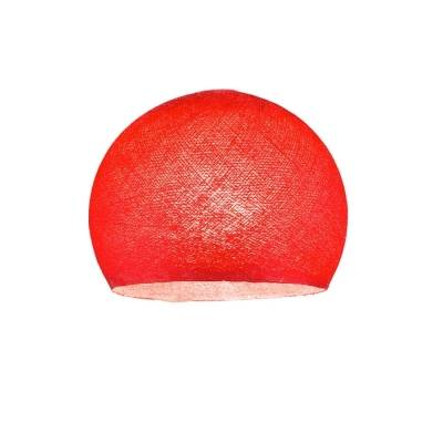 Red Dome Fabric Lampshade - Dome lamp shade for Pendant Lights, Hanging Lights & Chandelier - 100% Handmade