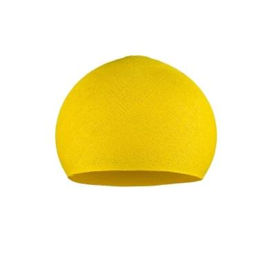 Yellow Dome Fabric Lampshade - Dome lamp shade for Pendant Lights, Hanging Lights & Chandelier - 100% Handmade