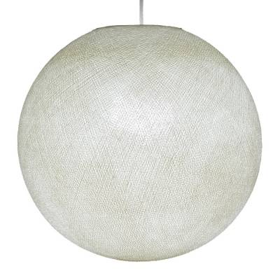 Ivory Round Fabric Lampshade - Round lamp shade for Pendant Lights, Hanging Lights & Chandelier - 100% Handmade