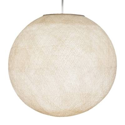 Beige Round Fabric Lampshade - Round lamp shade for Pendant Lights, Hanging Lights & Chandelier - 100% Handmade