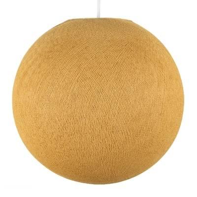 Mustard Yellow Round Fabric Lampshade - Round lamp shade for Pendant Lights, Hanging Lights & Chandelier -100% Handmade