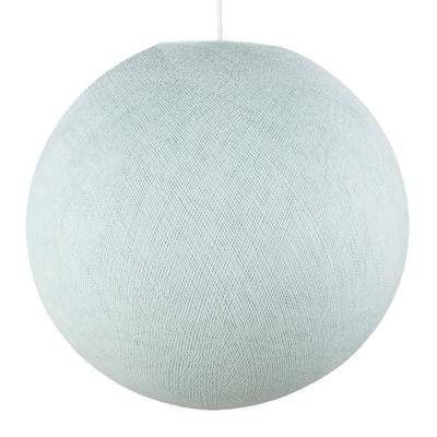 Light Blue Round Fabric Lampshade - Round lamp shade for Pendant Lights, Hanging Lights & Chandelier - 100% Handmade