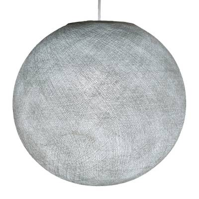 Pearl Grey Round Fabric Lampshade - Round lamp shade for Pendant Lights, Hanging Lights & Chandelier - 100% Handmade