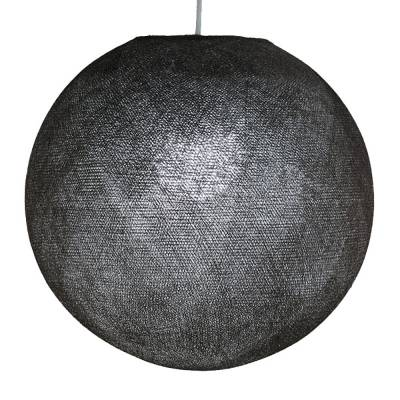 Graphite Round Fabric Lampshade - Round lamp shade for Pendant Lights, Hanging Lights & Chandelier - 100% Handmade