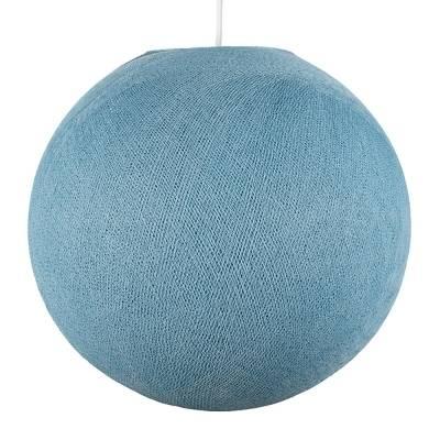 Denim Blue Round Fabric Lampshade - Round lamp shade for Pendant Lights, Hanging Lights & Chandelier - 100% Handmade