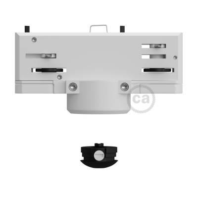 White Eutrac Pendant Lighting Adaptor for 3 phase circuit track lighting