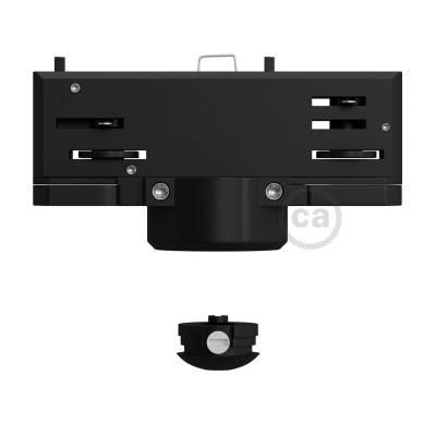 Black Eutrac Pendant Lighting Adaptor for 3 phase circuit track lighting
