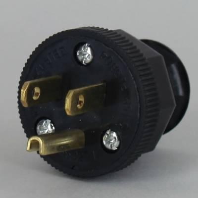 Black Round 3- Prong Plug