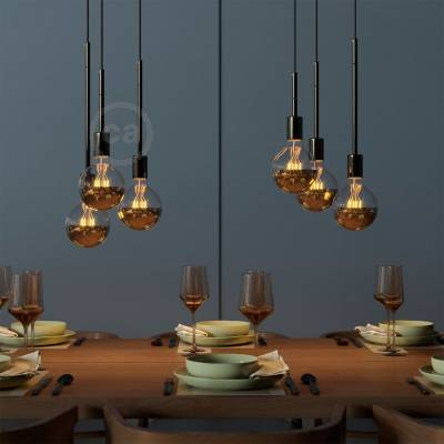 Black Pearl Metal Extension Tubes - Lamp Parts