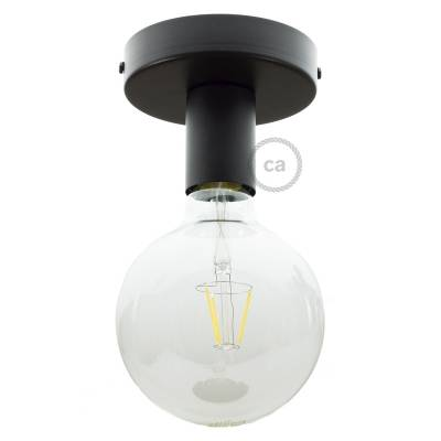 Fermaluce, the black metal wall or ceiling light source.
