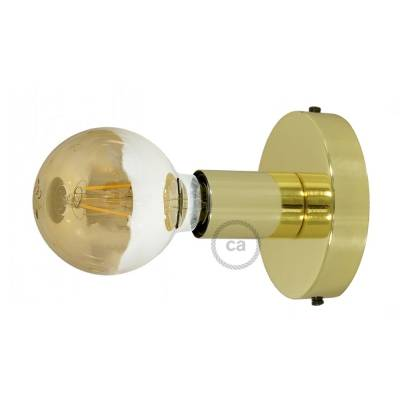 Fermaluce, the brass metal wall or ceiling light source.