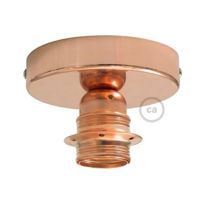 Fermaluce Copper metal finish, with E26 threaded lamp holder, the metal wall or ceiling light source