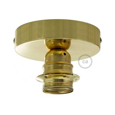 Fermaluce Brass metal finish, with E26 threaded lamp holder, the metal wall or ceiling light source
