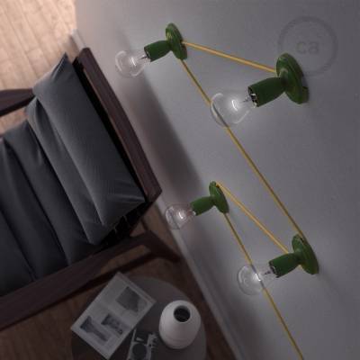 Fermaluce Classic, the wall or ceiling light source in green porcelain.