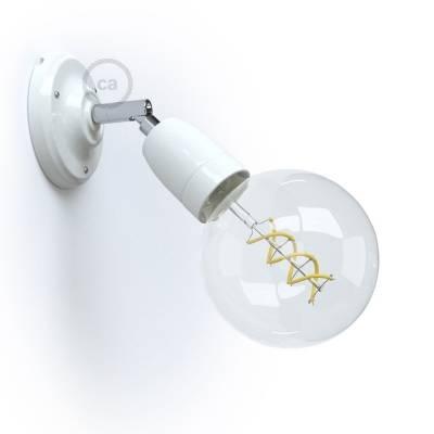 Fermaluce Classic 90° White adjustable, porcelain wall flush light