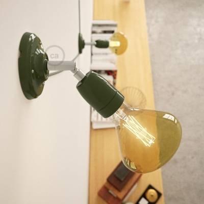 Fermaluce Classic 90° Green adjustable, porcelain wall flush light