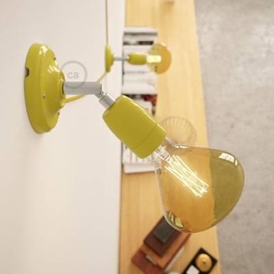 Fermaluce Classic 90° Yellow adjustable, porcelain wall flush light