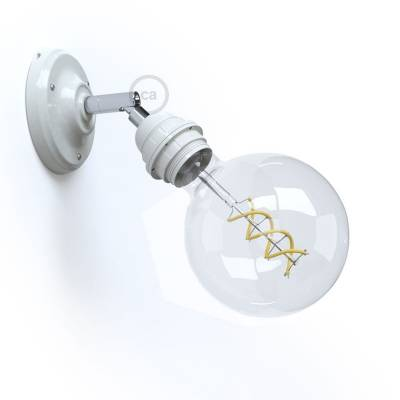 Fermaluce Classic 90° White, adjustable, with E26 threaded lamp holder, the porcelain wall or ceiling light source