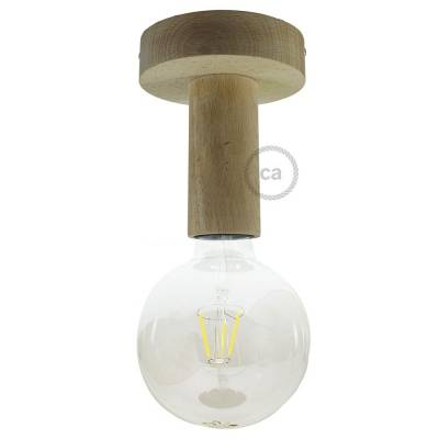 """Natural Fermaluce, the natural wood flush light for your wall or ceiling, 5.6""""."""
