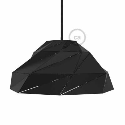 Nuvola Lampshade in opaque black metal with E26 socket