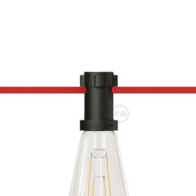 Light Sockets for String Lights- Black thermoplastic- for custom string lights