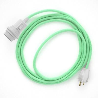 Create your RC34 Mint Green Cotton Snake for lampshade and bring the light wherever you want