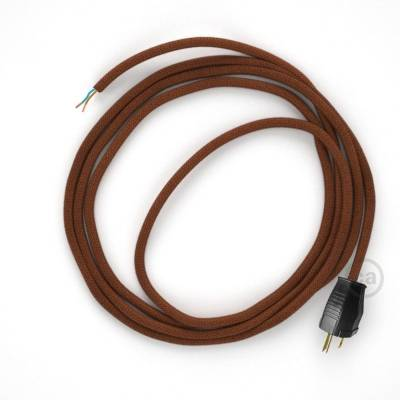 Cord-set - RC23 Rust Cotton Covered Round Cable