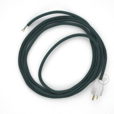 Cord-set - RC30 Stone Blue Cotton Covered Round Cable