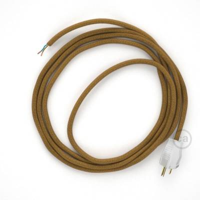 Cord-set - RC31 Mustard Cotton Covered Round Cable