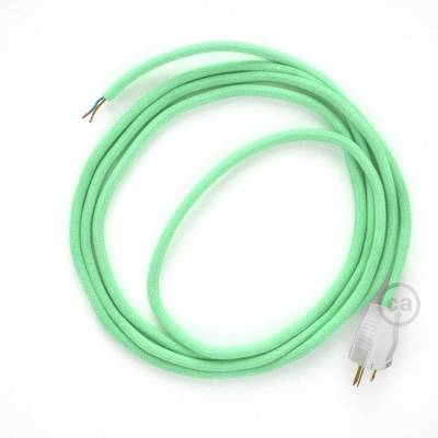 Cord-set - RC34 Mint Green Cotton Covered Round Cable