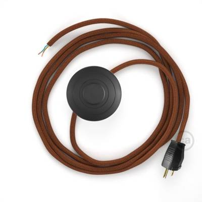Power Cord with foot switch, RC23 Rust Cotton - Choose color of switch/plug