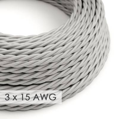 Extension Cord - Twisted Silver Rayon TM02 - 15/3 AWG