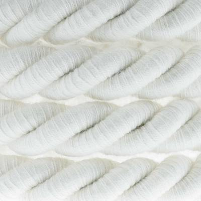 XL Rope electrical wire 18/3 AWG wire inside. Raw Cotton Fabric. 16mm.