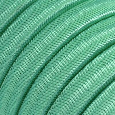 Electric Cable Color Cord for Custom String Lights, covered by Rayon fabric Opal (CH69)