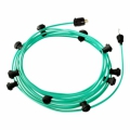 Ready-to-use 40ft String Light with Rayon Fabric Cable Opal CH69 Kit with 10 Sockets, Hook and Plug