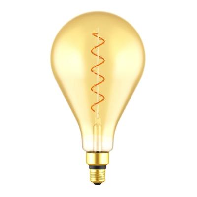 Giant Light Bulbs - PS 50 Teardrop Shape - Amber Glass