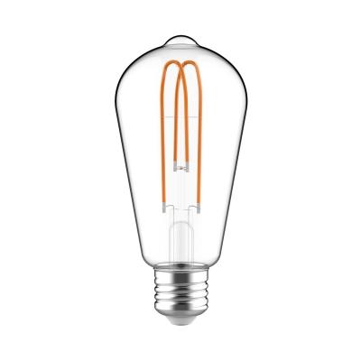 Classic Edison Bulb - ST21 (ST64) Looping Filament - Clear Glass