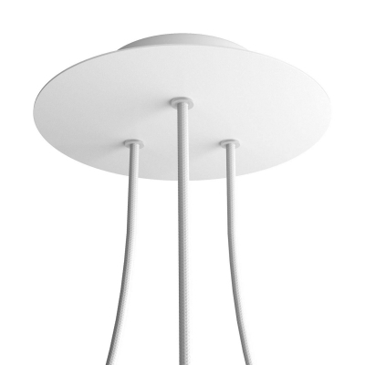 3 Holes - LARGE Round Ceiling Canopy Kit - Rose One System